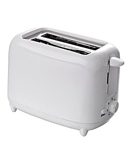 Low wattage 2 slice white toaster