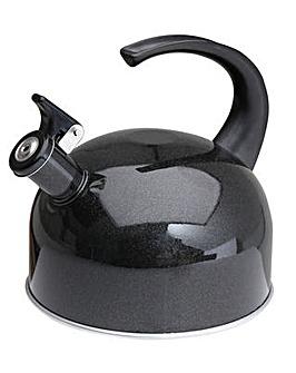2L Black easy pour whistle kettle