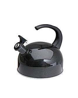 1.2L Black easy pour whistle kettle