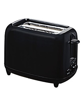 Low wattage 2 slice black toaster