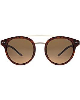 Polaroid Double Bridge Round Sunglasses
