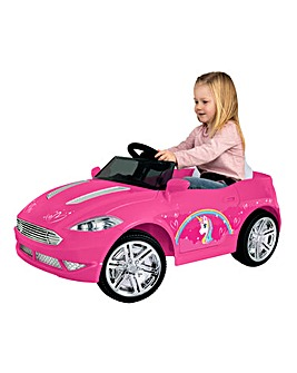 EVO 6 Volt Battery Operated Unicorn Convertible Car