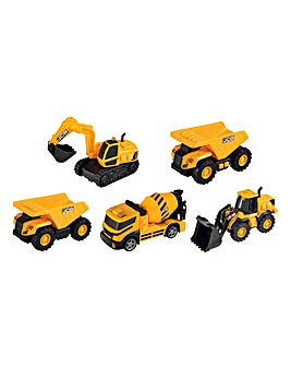 JCB Lights and Sounds Construction Vehicle 5 Pack