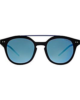 Polaroid Double Bridge Square Sunglasses