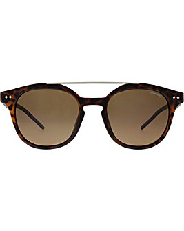 Polaroid Double Bridge Square Sunglasses