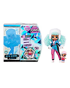 LOL Surprise! O.M.G. Winter Chill Icy Gurl Fashion Doll & Brrr B.B. Doll