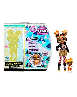 LOL Surprise! O.M.G. Winter Chill Missy Meow Fashion Doll & Baby Cat Doll