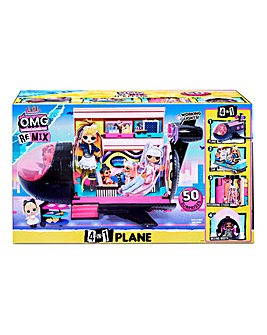LOL Surprise OMG Remix 4-in-1 Plane Playset Transforms - 50 Surprises