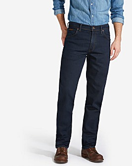 Wrangler Texas Stretch Blu/Blk 30 In Leg