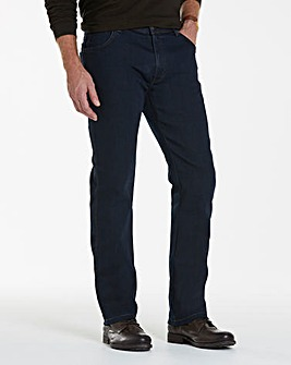 Wrangler Texas Stretch Blu/Blk 34 In Leg