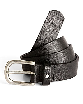 Jacamo Black Label Slim Leather Belt
