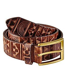 Label J Aztec Embossed Belt