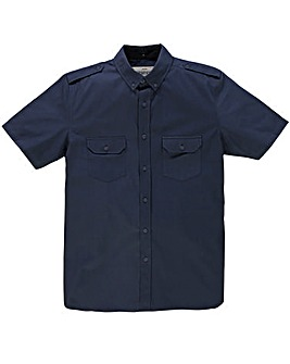 Jacamo Short Sleeve Navy Military Shirt Long