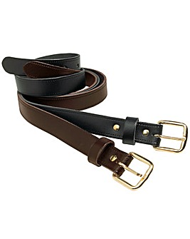 Williams & Brown Pack Of 2 Leather Belts