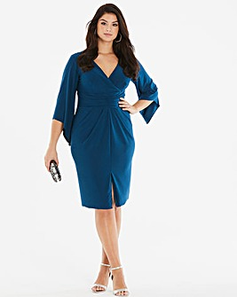 Simply Be By Night Wrap Midi Dress