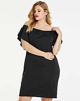 Simply Be By Night Bardot Scuba Dress