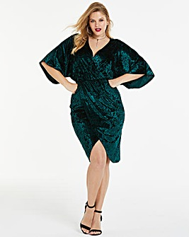 Simply Be By Night Crushed Velvet Dress