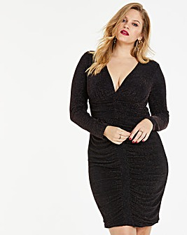 Simply Be By Night Ruched Midi Dress
