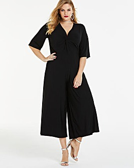 Simply Be By Night Twist Front Jumpsuit