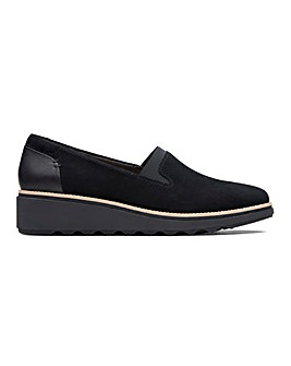 Clarks Sharon Dolly Suede Slip On Shoes Standard D Fit