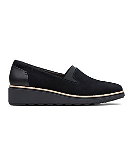 Clarks Sharon Dolly Suede Slip On Shoes Wide E Fit