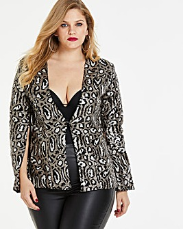 Simply Be By Night Split Sleeve Jacket