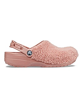 Crocs Luxe Fuzz Mania Slippers D Fit