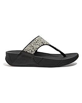 Fitflop Lulu Glitter Splash Toe Post Flip Flops Wide E Fit