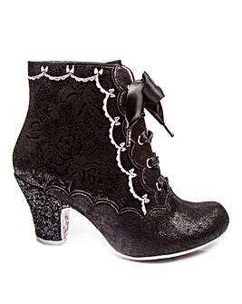 Irregular Choice Chinese Whispers Lace Up Ankle Boots Standard D Fit