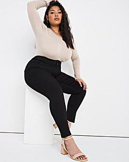 Shape & Sculpt Black Extra High Waist Skinny Jeans
