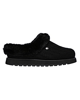 Skechers Ice Angel Knitted Mule Slippers Wide E Fit