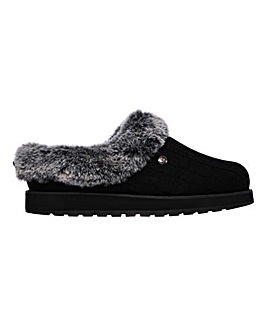 Skechers Ice Angel Knitted Mule Slippers Standard D Fit