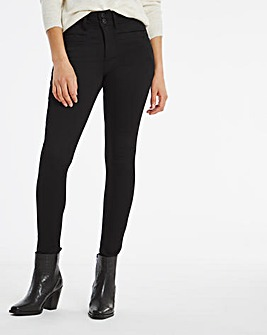 Shape & Sculpt Black Apple Fit Skinny Jeans