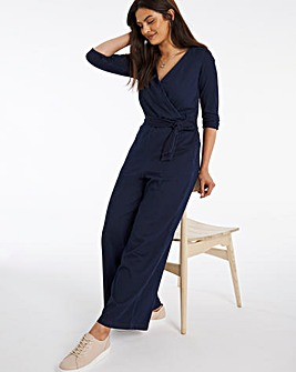 Indigo Jersey Denim Jumpsuit