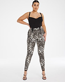 Leopard High Waist Shaper Jeggings