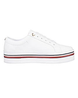 Tommy Hilfiger Lace Up Flatform Leisure Shoes Standard D Fit