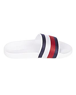 Tommy Hilfiger Shimmery Ribbon Pool Slide Sandals Standard D Fit