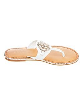 Tommy Hilfiger Leather Toe Post Sandals Standard D Fit