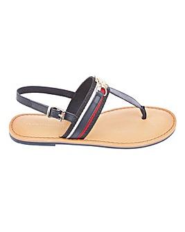Tommy Hilfiger Shimmery Ribbon Toe Post Sandals Standard D Fit