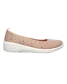 Skechers Arya Sweet Glitz Slip On Leisure Shoes Standard D Fit