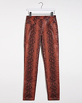 Bella Snake Coated Slim Leg Jeggings