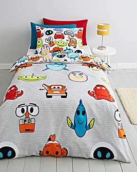 Pixar Emoji Single Reversible Duvet Set