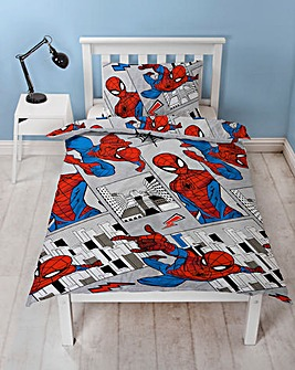 Spiderman Flight Single Reversible Duvet Set
