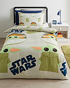Star Wars Mandalorian Reversible Single Duvet Set