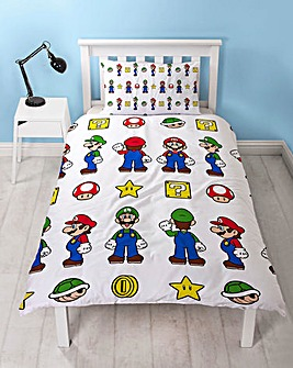 Mario Stack Reversible Single Duvet Set