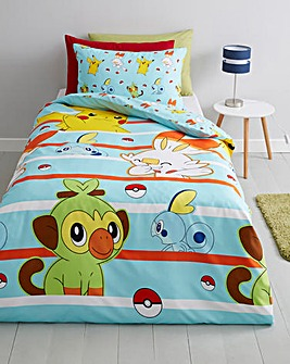 Pokemon Jump Reversible Single Duvet Set