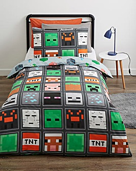 Minecraft Mob Faces Reversible Duvet Set