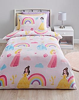 Disney Princess Rainbow Cloud Fleece Duvet Set