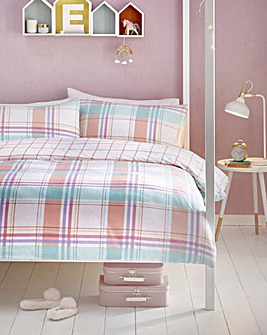 Appletree Kids Cha Cha Check Brushed Cotton Duvet Set