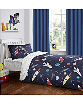 Bedlam Space Glow In The Dark Reversible Duvet Set